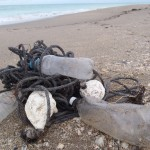 Sytrofoam buoys & buoys made from bottles tied to rope