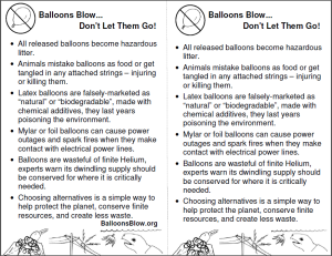 Balloons Blow Mini Fact Sheet - Printable