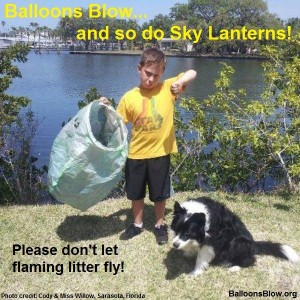 Balloons Blow and So Do Sky Lanterns