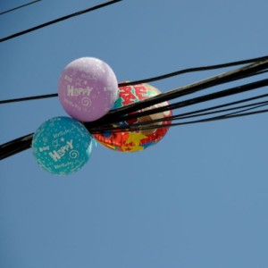 Balloons in Power Lines
