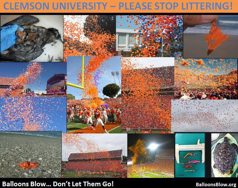 Clemson University - Please Stop Littering