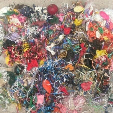 pile of balloon ribbons and latex balloons