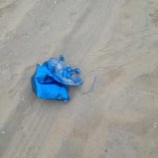mylar balloon littering Bradley Beach