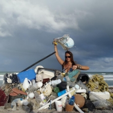 Plastic Pollution and Trash on Beach