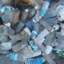 Pile of Plastic Single-Use Bottles
