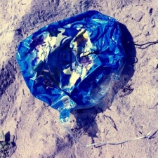 mylar balloon trash