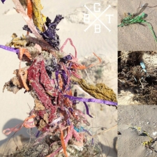 collage of latex and mylar balloon litter