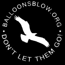 White osprey balloons blow logo decal