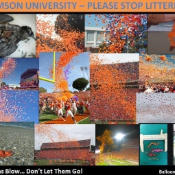 Clemson's Mass Balloon Littering Events