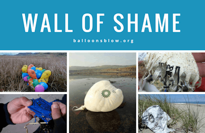 Wall of Shame - Companies and Organizations that release balloons