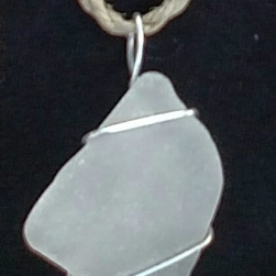 White 2 Seaglass Pendant
