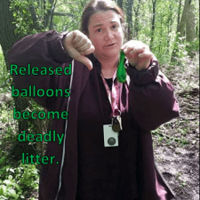 Poplar Creek IL - Balloon Trash