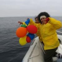 balloons in ocean