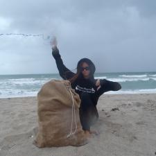 Balloons and Plastic Debris on Beach