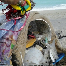 Balloons, plastic and other beach pollution