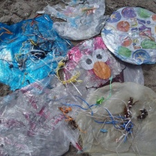 26 latex and 7 mylar balloons cleaned from beach