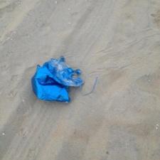 mylar balloon littering Bradley Beach