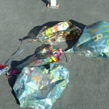 Baby Shower Mylar Balloons polluting beach
