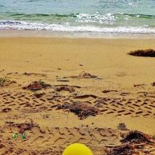 balloon littering beach