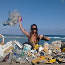 Beach debris cleanup