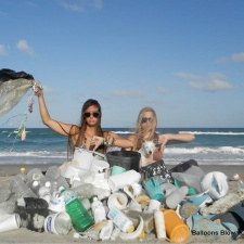 Every day, same stuff found on the beach: balloons, plastic pollution, metal containers & more
