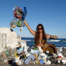 Plastic Pollution, Styrofoam and Balloons Cleaned Up from Beach