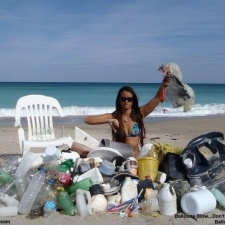 Plastic pollution, balloons, styrofoam and more beach debris
