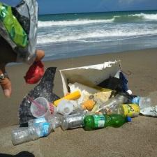 Plastic cups, plastic bottles, balloons