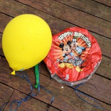 Latex and Mylar balloons litter