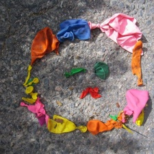 Latex balloon pollution from Massachusetts