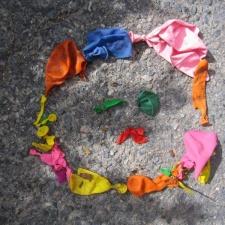 Latex balloon pollution from Massachusetts