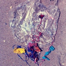 Mylar balloon litter