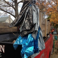 Mylar balloons retrieved from 75 feet up a tree after Hurricane Sandy