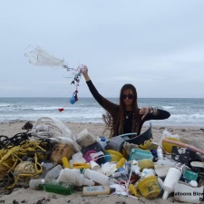 marine debris, plastic pollution on beach