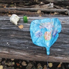 This mylar balloon was found in the pristine wilderness of the Kenai Peninsula in Alaska
