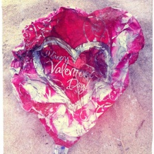 mylar balloon littering beach