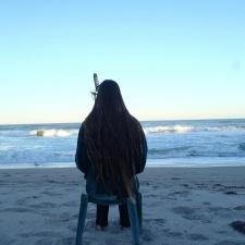 Watching Birds on beach
