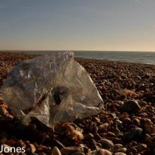 dirty mylar balloon on beach