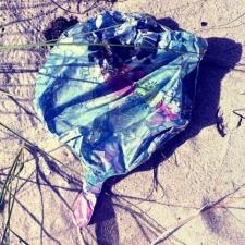 mylar balloon trash
