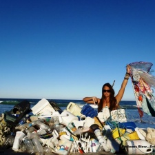 Plastic, balloons and other debris collected from Florida Beach